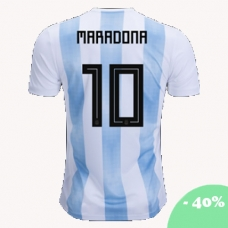 Сборная Аргентины Марадона (основная) Чемпионат Мира 2018. Шорты в подарок! - фото 1