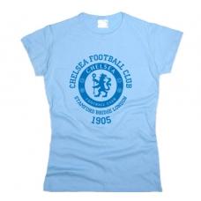 Футболка Chelsea football club женская. См. другие цвета цвет - фото 1